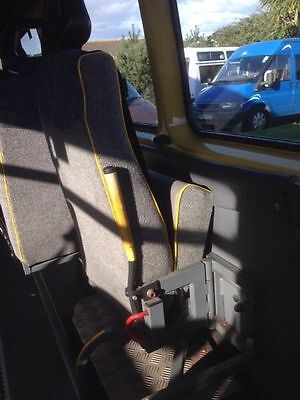 Mercedes Sprinter Swivel Folding Minibus Seats x 4 Good Condition Unwin Rail