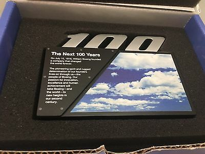 EXCLUSIVE  Boeing 100 Year Employee Paperweight Desk Box Gift IN BOX