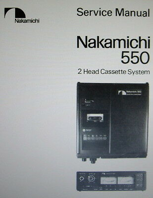 Nakamichi 550 2 Head St Cassette System Service Manual Inc Schems Bound English
