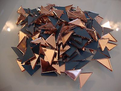 Mosaic Triangular Rose gold Mirror Tiles Approx 1.5 cm,  2 mm thick,100 pcs