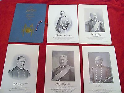 Rare Antique Antiquarian 1898 Heroes of the Spanish American War 16 Portraits