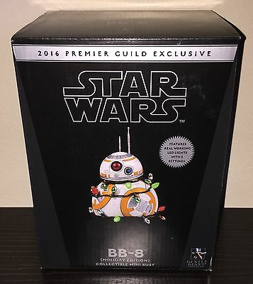 Gentle Giant Pgm Star Wars Bb-8 Holiday Edition Lighted Mini Bust /750 Sold Out