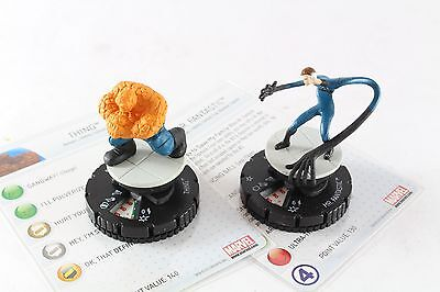 Heroclix Marvel Galactic Guardians Mr Fantastic & The Thing 037 038 Super Rare
