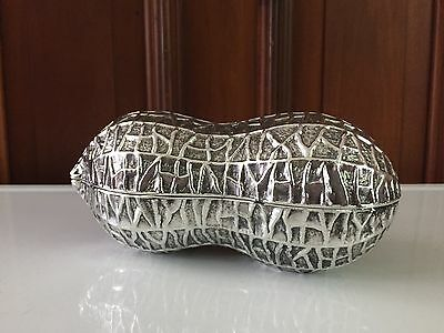 Vintage F.B. ROGERS SILVER CO. Large PEANUT SHAPED DISH Box Mid Century JAPAN