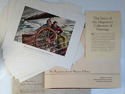 Vintage Art Reproductions from the MAGNAVOX Collection 10 Collectable Prints