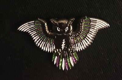 "Grateful Dead-""Small Purple, White, and Green Owl"" Pin Limited Edition"