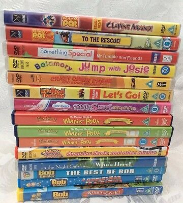 DVD Film Children's Job Lot X 15 Bob, Pat, Tumble, Brum, Lazy Town Night Garden