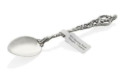PERSONALISED NEW BORN BABY CHRISTENING GIFT 925 SILVER SPOON Engraved Spoon Box
