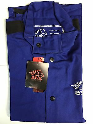 Revco BSX BXRB9C Blue FR Welding Jacket With Blue Flames (XL)