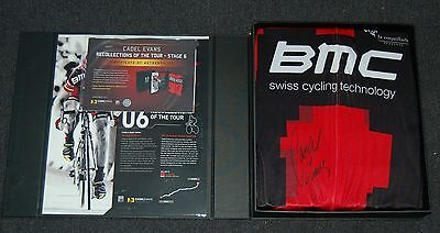 Cadel Evans 2011 Tour De France Champion Hand Signed Red Bmc Boxed Jersey