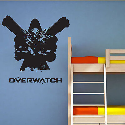 Overwatch Reaper Free Squeegee! Wall Art Decal / Sticker / Transfer Gaming