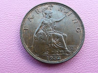 George v farthing coin 1932  high grade