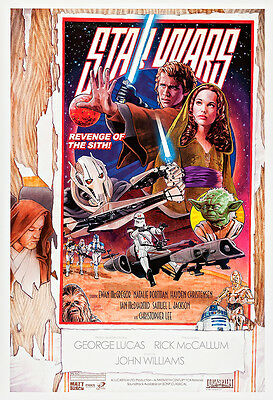 Star Wars Episode III - Revenge of the Sith IV Movie Poster A1  Canvas Print