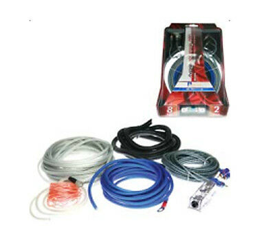 Aerpro Maxcor Mx208 8 Awg 600W 2 Channel Amplifier Wiring Kit Install Sub Amp