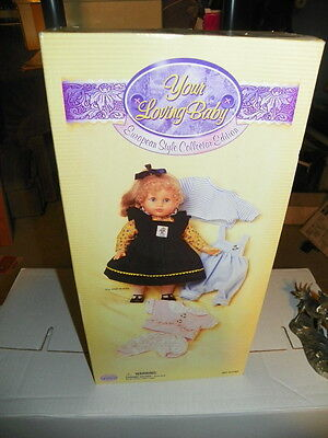 Uneeda Loving Baby  Curly Hair Berenguer Doll, Spain, ex. outfits NIB-- FREE DVD