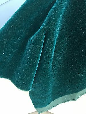 Antique Mohair Wool Fabric Remnant