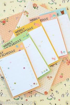 Weekly My Schedule Sticky Notes kawaii planner diary cartoon animal memo notes