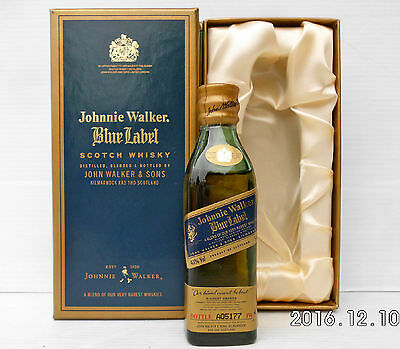 Johnnie Walker Blue Label Old shape Mini In Coffin Box-RARE!!!!!!!