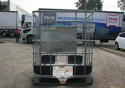 1000L empty IBC cage, storage, firewood, 4 way forkliftable pallet