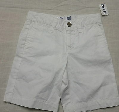 Old Navy Toddler Flat Front Chino Shorts Size 3T NEW *SUPER CUTE**  White