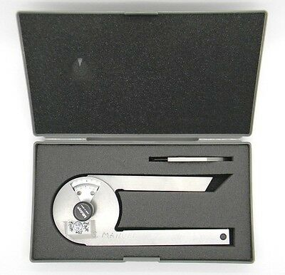 Mitutoyo 187-201 Stainless Steel Bevel Protractor Machinists Tool