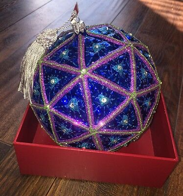 Waterford Crystal New Years Eve Time Square 2017 Ornament Ball NWT
