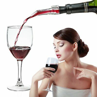 White Red Wine Aerator Pour Spout Bottle Stopper Decanter Pourer Aerating【AU】