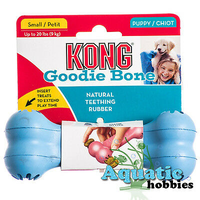 Kong Puppy Goodie Bone Small Natural Teething Rubber Insert Treats Dog S