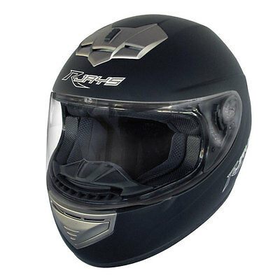 New RJAYS APEX-II MATT BLACK MOTORCYCLE BIKE ROAD HELMET AS/NZS ECE SIZE XS-2XL