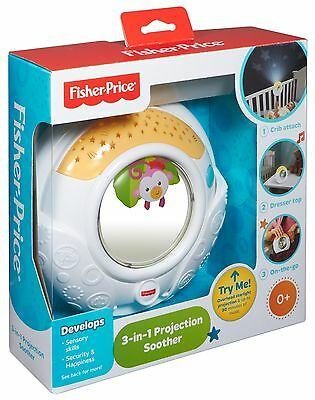 MS) Fisher-Price 3-in-1 Rainforest Friends Projection Soother Baby Crib Mobile