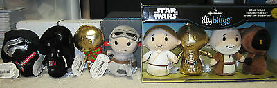 Itty Bittys Star Wars Collectors Set Lot of 8 New With Tag