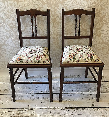 Pair of Antique Edwardian Side Chairs