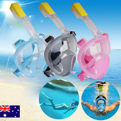 Hot Swimming Full Face Mask Surface Underwater Diving Snorkel Scuba Swim Tool