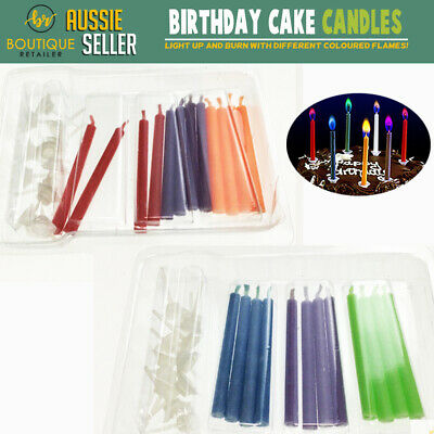 12x Birthday Party Cake Candles Magic Coloured Flames Candle Cool Fun Colour New