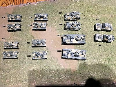 1/100th (15mm) WWII French Armor Wargaming Model Set of 14