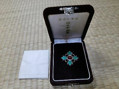 Japanese Green Cross Medal ARMY NAVY BADGE ORDER ANTIQUE 0A2