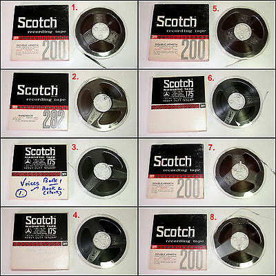 Assorted Pre-Recorded Reel to Reel 7 inch Tapes (Batch #1)