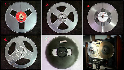 Assorted Take Up Blank Reel to Reel 7 inch Tapes (One tape)