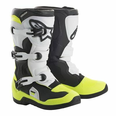 Alpinestars Tech 10 A1 Radiant LE Black Pink Flo Yellow Motocross Boots Enduro