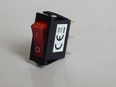 On/off switch 3 pin rocker 15AMP with red led light