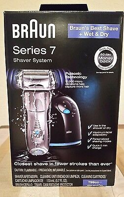 BRAUN SERIES 7 SHAVER SYSTEM WET AND DRY 799cc NEW