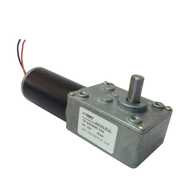 Reversible DC 12V Electrical Worm Gear Motor 8Rpm with Self-locking