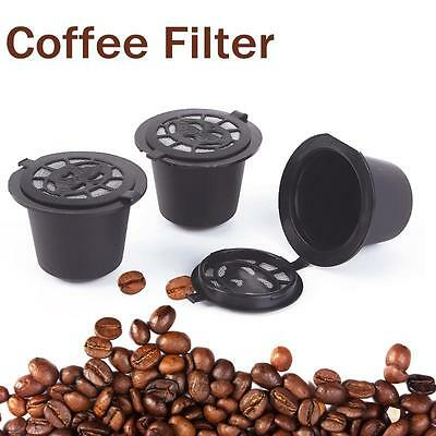 1/3/6pcs Exquisite Refillable Coffee Capsule Cup Reusable Nespresso Machine RS