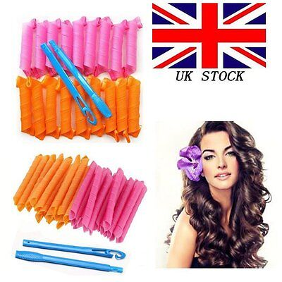 20/40Pcs 55CM DIY Magic Leverag Hair Curlers Tool Styling Rollers Spiral Circle