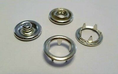 90 Jersey Push buttons 6,5mm silver, Brass rust-free, for Textile, Spindle press