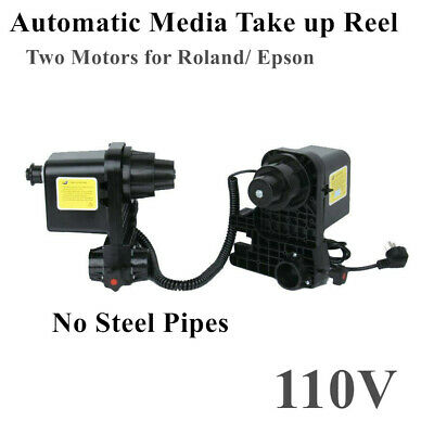 110V Automatic Media Take up Reel Two Motors for Roland/ Epson (No Steel Pipes)