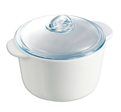 Pyrex Flame Casserole with Lid, 3.0L