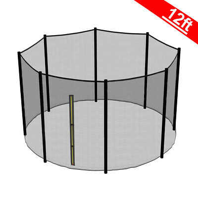 12FT Trampoline Replacement Safety Net Enclosure Surround Outside Netting New