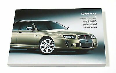 Rover 75 V8 Owner's Handbook (RCL 0588, 4th Edition) *NEW/UNUSED*
