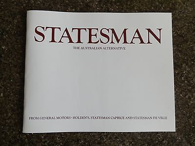 1976 Holden Hx Statesman Deville And Caprice Sales Brochure  100% Guarantee